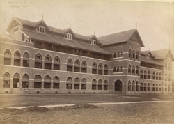 Male Ward, Front View, St George's Hospital, [Bombay].